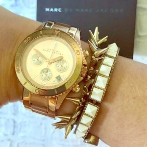 """Marc by Marc Jacobs """"Rock"""" Rose Gold Watch"""